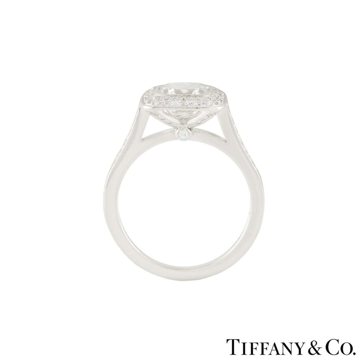 Tiffany & Co. Platinum Legacy Diamond Ring 1.54ct G/VVS1